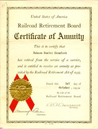 Crawford-Judson-b1866-1936-Railroad-Certificate-Annuity320
