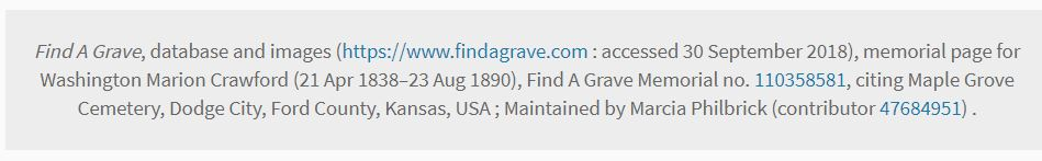 FindGraveCitation